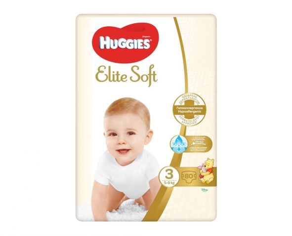 HUGGIES Elite Soft (3) Mega 80/1 plenice