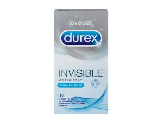 Durex kondomi 10/1 Invisible Sensitive